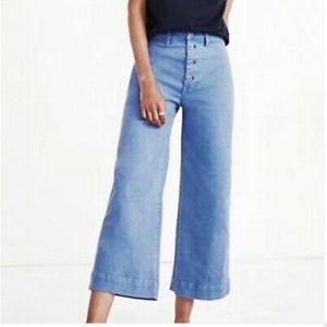 Madewell NWT Emmett Wide Leg High Rise Crop Pants